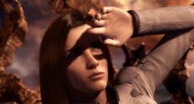 《最终幻想》开头几张,阳光照耀双眼,遮挡一下