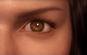 《最终幻想》开头几张,瞳孔、皮肤、毛发特写